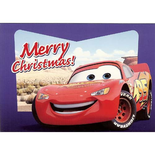 Disney Christmas Cards Lightning McQueen Blue