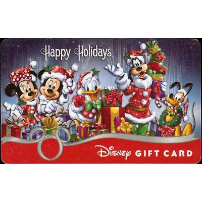 Disney Collectible Gift Card Happy Holidays Mickey And