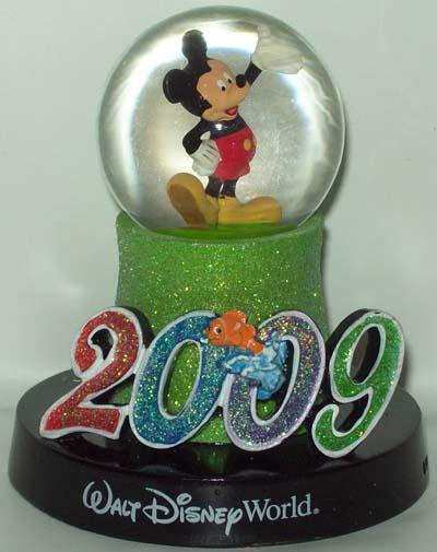 Disney Snow Globe Mickey Mouse Logo 2009