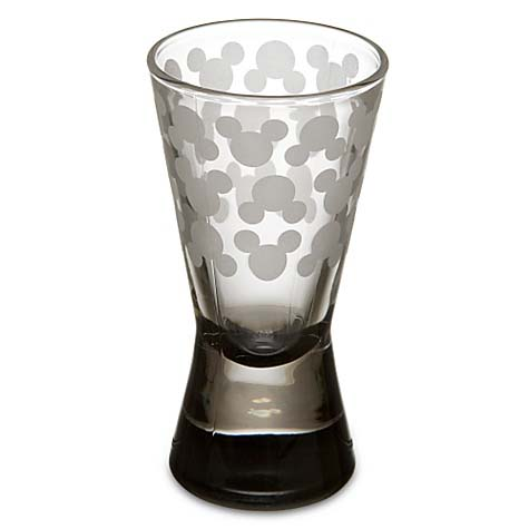 Disney Shooter Shot Glass  Etched Mickey Mouse