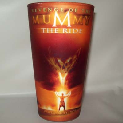 Universal Studios Plastic Cup  Revenge of the Mummy  The Ride
