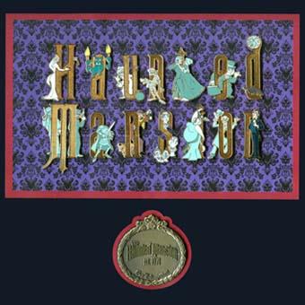 Disney Framed Pin Set Haunted Mansion