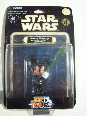 Disney Star Wars Figurine 2010 Mickey Jedi Knight