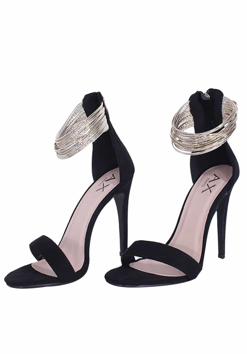 BLACK GOLD RING STILETTOS