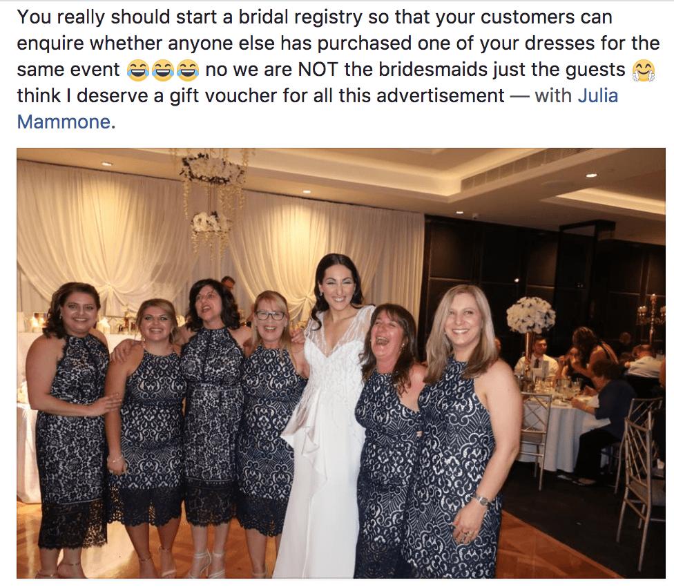 identical dress facebook
