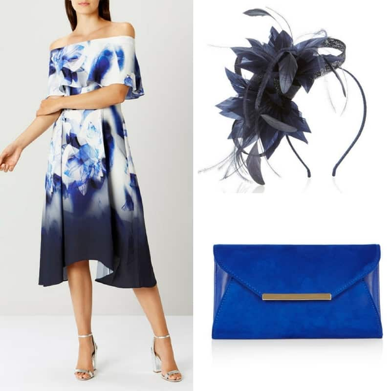 Vibrant blue coast occasion outfit