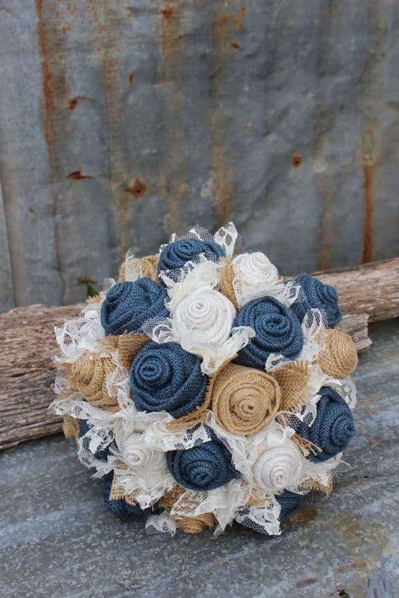 denim style bouquet