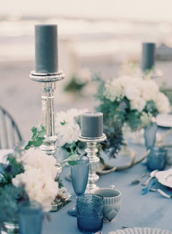dusty blue denim wedding