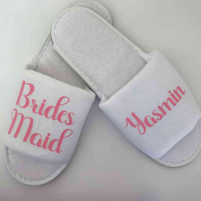 etsy bridesmaid slippers