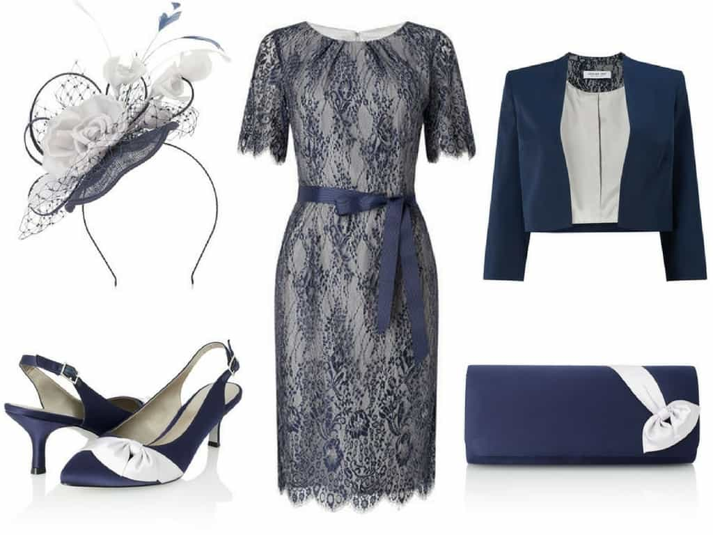 Navy mother of the bride outfit
