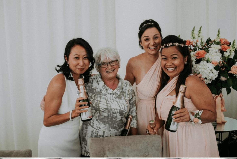 bride and dressmaker