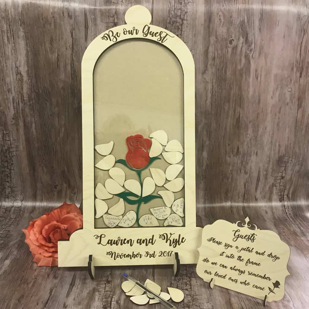 beauty and the beast guestbook