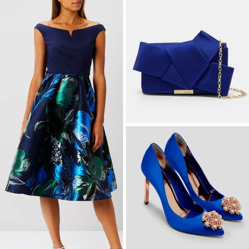 blue outfit coast and ted baker