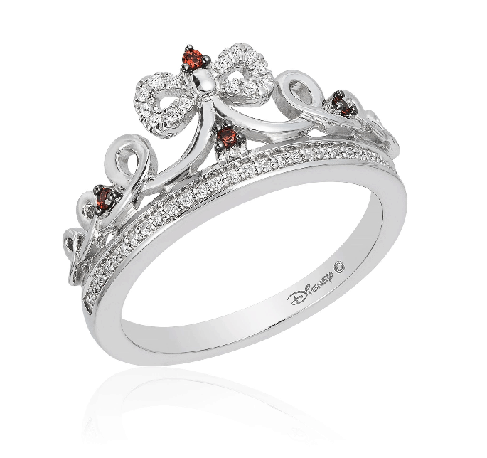garnet snow white ring