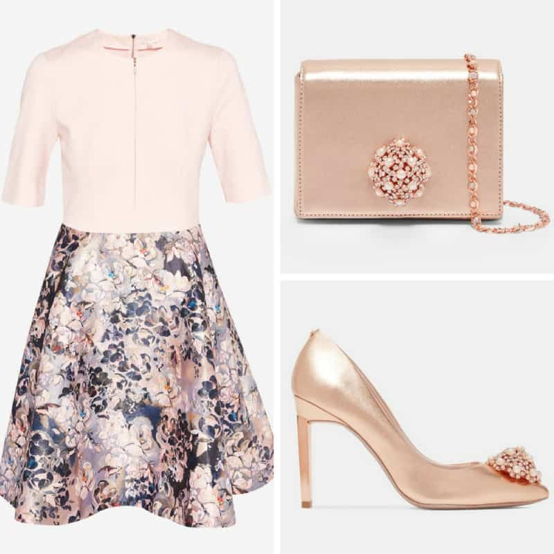 Floral and Rose Gold Ted Baker Occasion Outfit