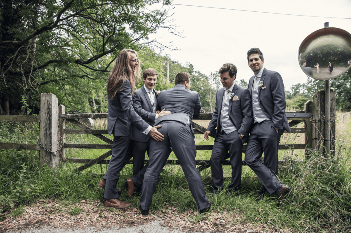 trouser rip wedding