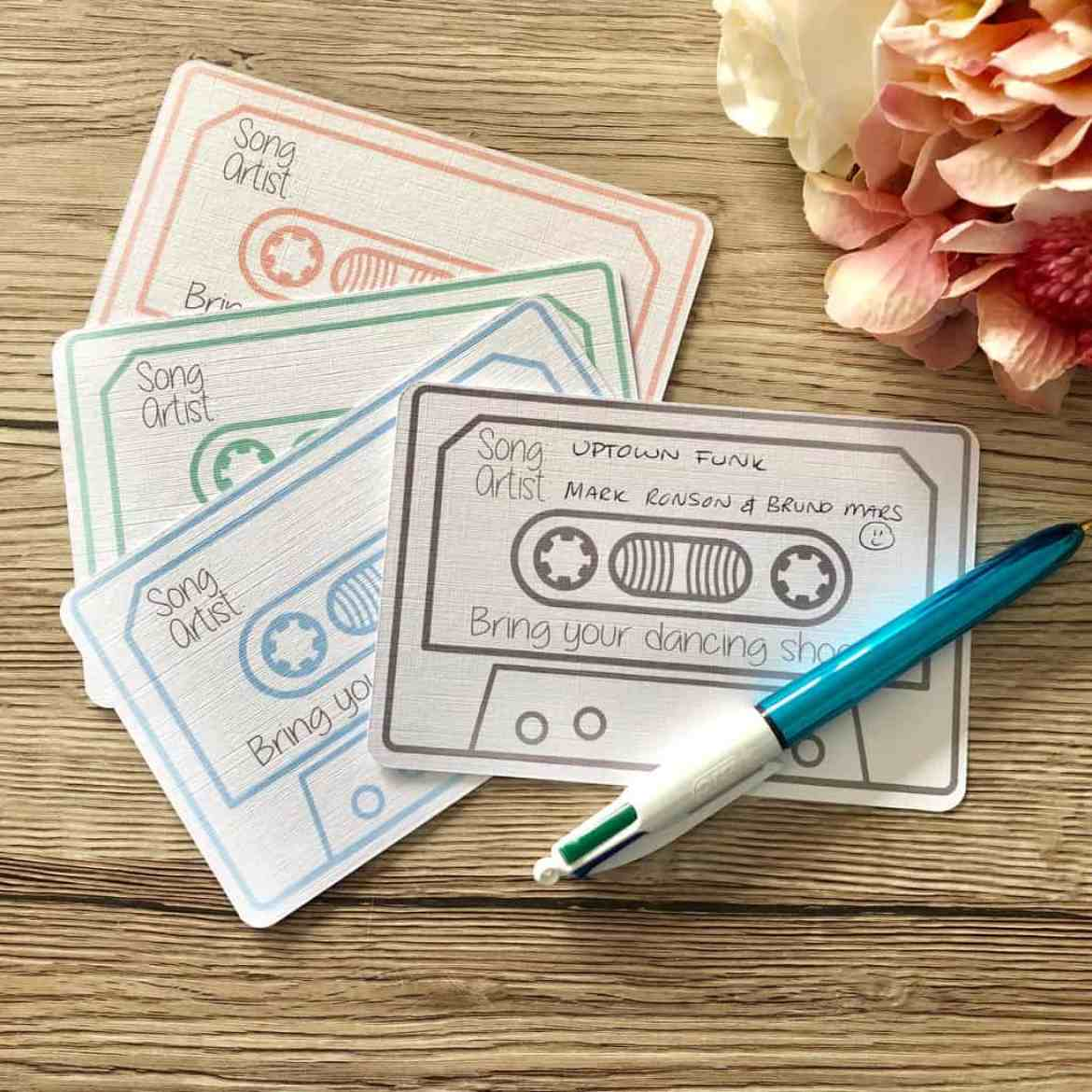 song request cards