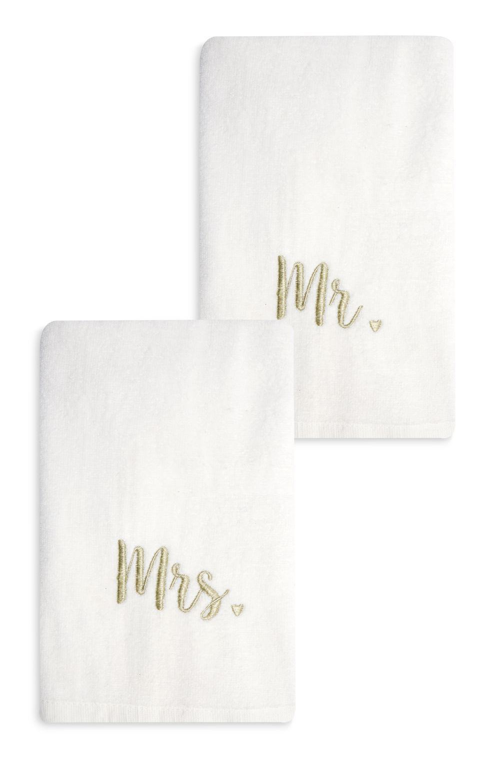 primark wedding towels