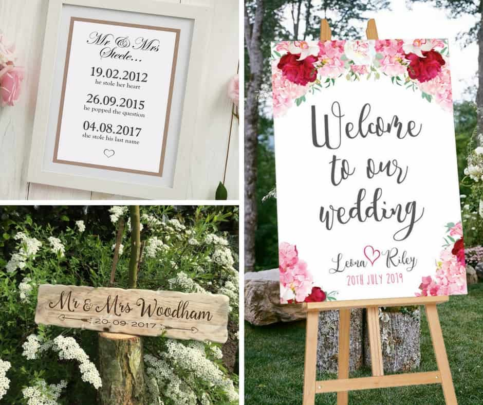 wedding signs etsy decor blog
