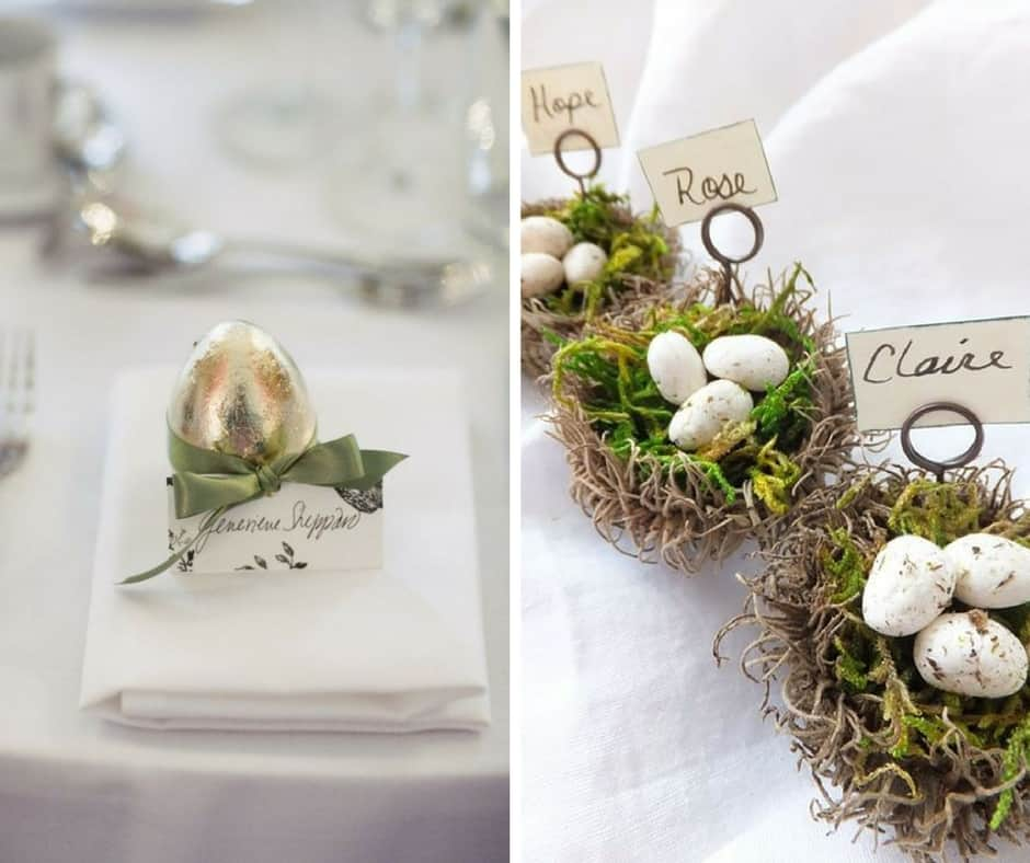 easter wedding favours
