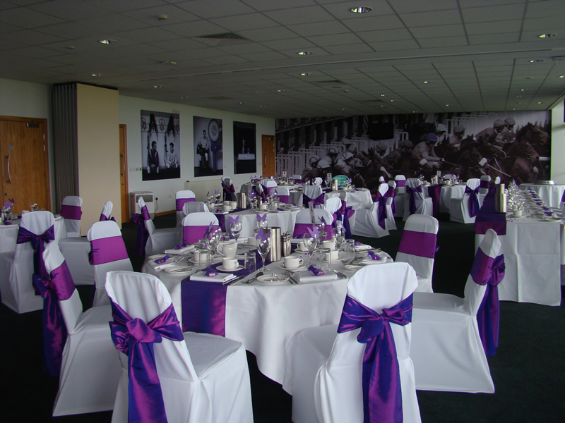 wedding chair covers doncaster counter height swivel chairs balloons and party decoration cadbury purple taffeta