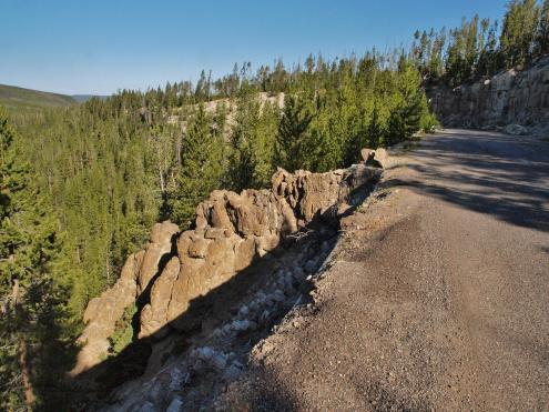 Virginia Cascade Drive  Scenic Drives  Norris Region  Yellowstone National Park  Your