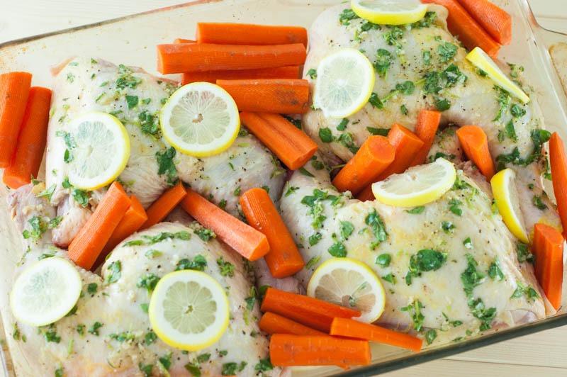 Lemon-Oregano Chicken and Vegetables | YouShouldCraft.com