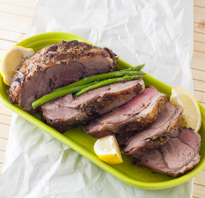Rosemary & Lemon Leg of Lamb | YouShouldCraft.com