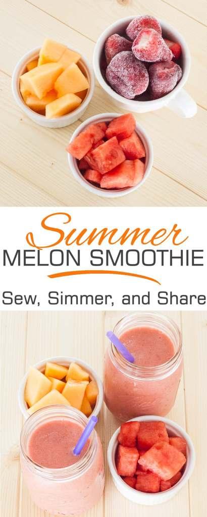 Summer Melon Smoothie | YouShouldCraft.com