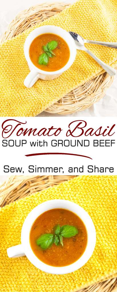 Tomato Basil Soup with Ground Beef | YouShouldCraft.com