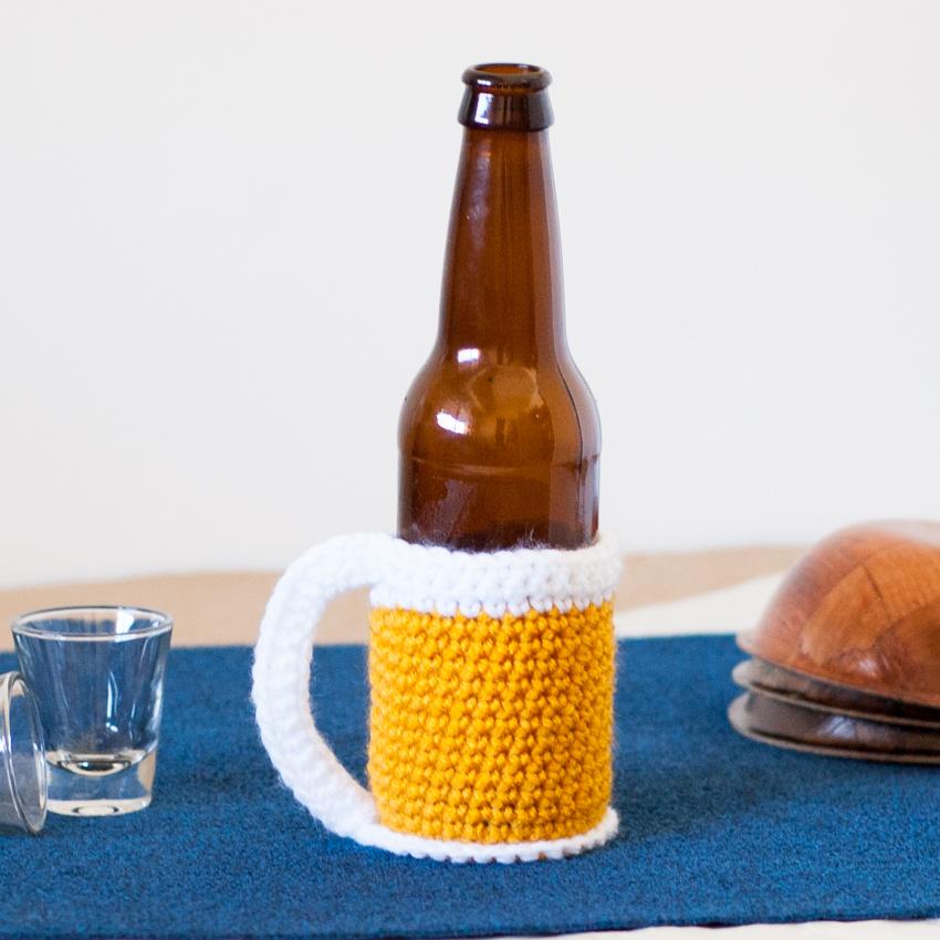 Beer Mug Bottle Cozy Free Crochet Pattern You Should Craft