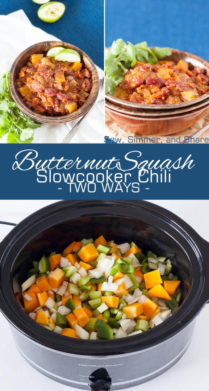 Slowcooker Butternut Squash Chili - 2 Ways (either Vegan/Vegetarian or Paleo/Whole30)| YouShouldCraft.com