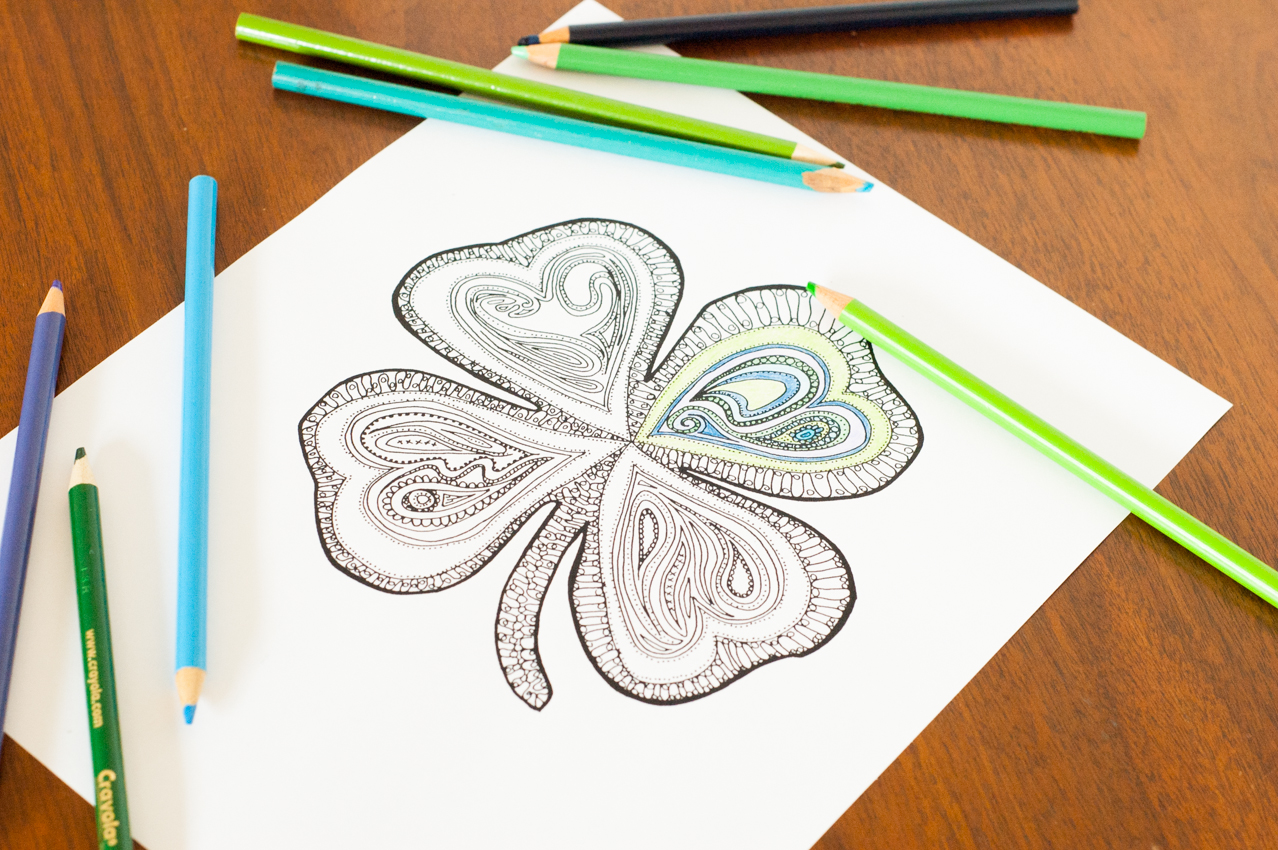 90 coloring pages for adults st patricks day for What craft should i do