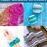 "four images of crocheted items with text ""beginner friendly half double crochet - 16 free patterns curated by you should craft"""