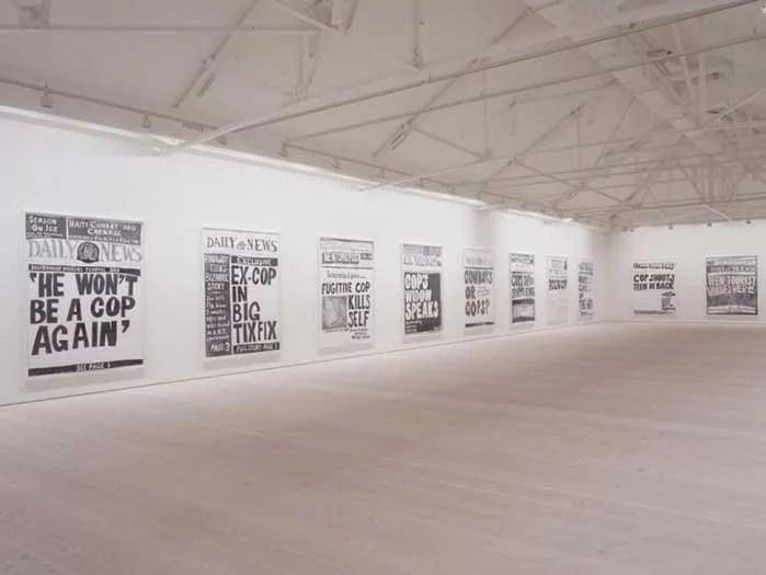 Aleksandra Mir drawings at Saatchi Gallery