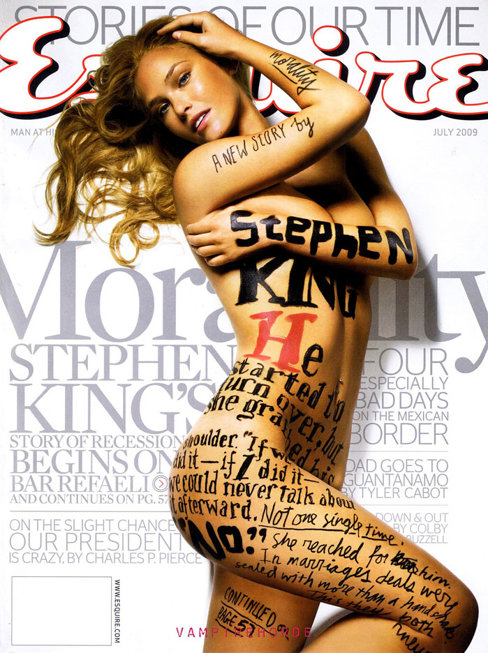 July 2009 Esquire cover - Bar Refaeli covered in type