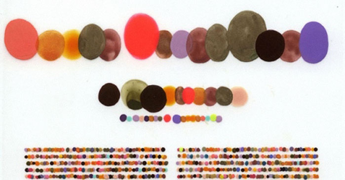 Lauren DiCioccio's Color Codification Dot Drawings