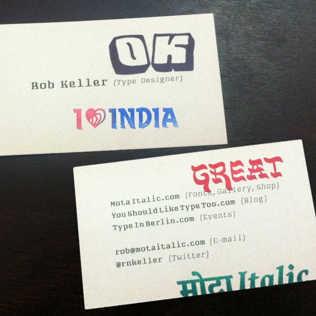 Playing with some rubber stamps on my new business cards: