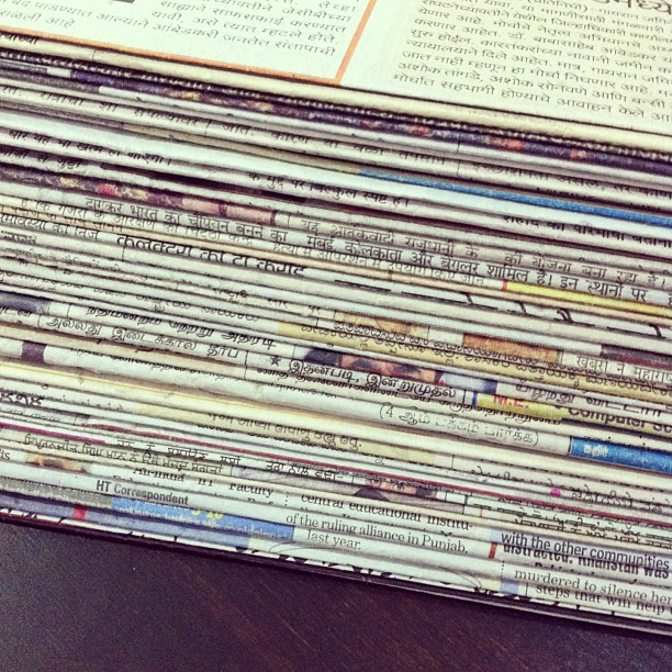 The 47 Indian newspapers (in 7 scripts) that...