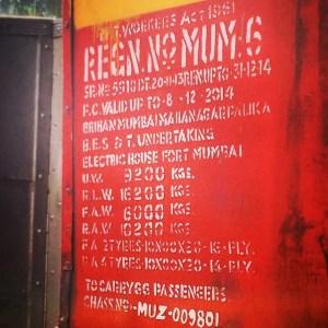 Mumbai bus stencil