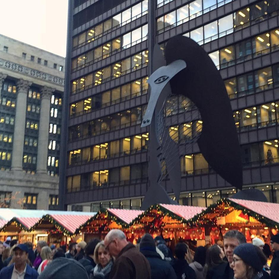 Chicago, German Christmas Market, Picasso.