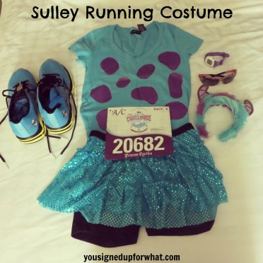 Sulley running costume