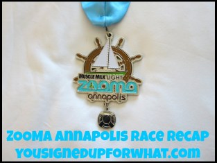 ZOOMA Annapolis race recap medal