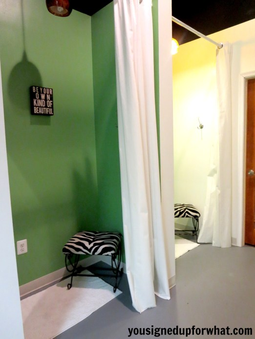 Blue Nectar Yoga Studio changing rooms