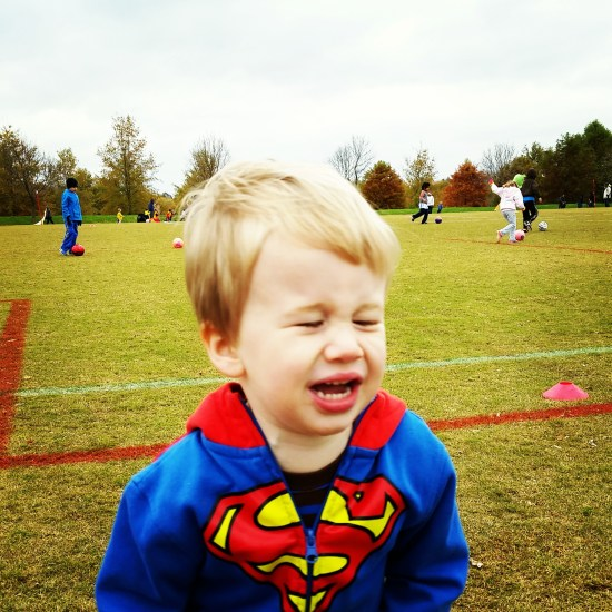 Son at soccer field