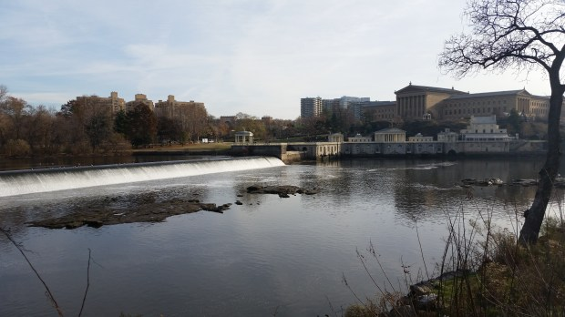 Dam on Philly marathon course