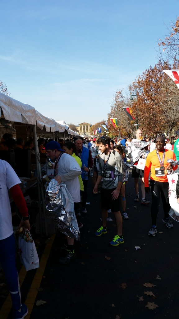 Philadelphia marathon finish area food