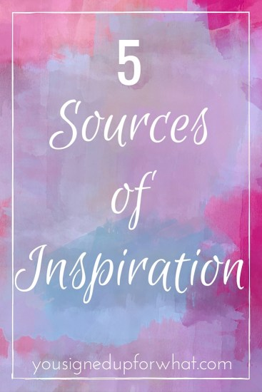 Five Sources of Inspiration