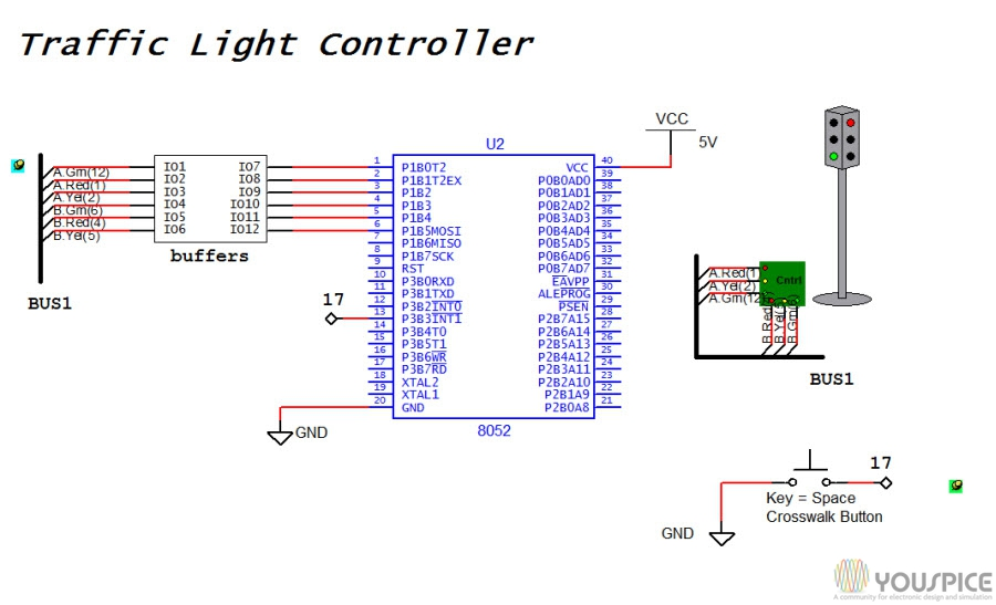 Circuit Diagram For Traffic Light Project