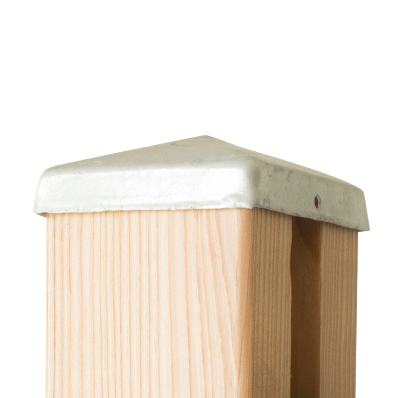 chapeau galvanise pour poteau de cloture bois farel